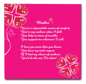 Dependable Mothers Day Poems