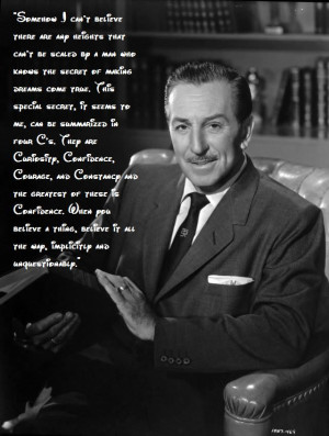 Walt Disney quote on the impossible.