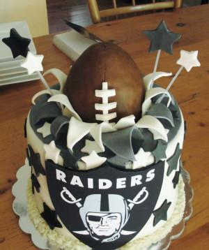 Raiders football cake
