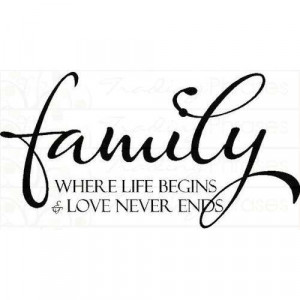 Family Where Life Begins | Wall Decals - Trading Phrases - Photo