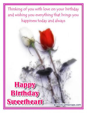 Romantic birthday scraps, greetings and cards, happy birthday love ...