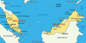 Malaysia Map with Cities