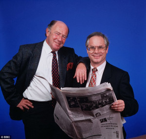 ... Simon Hoggart (right with Alan Coren), who I greatly enjoyed working