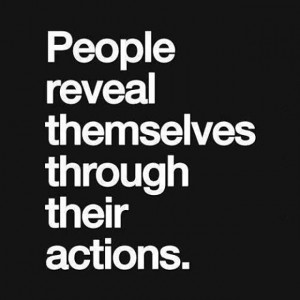 People reveal themselves