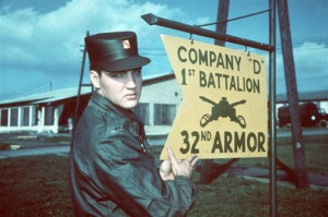 Rock-and-roll star Elvis Presley drafted today in 1957 while spending ...