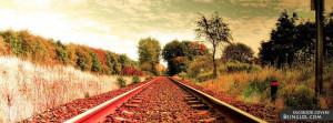 Train Tracks Facebook Timeline Cover