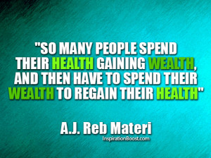 Wealth and Health Quotes