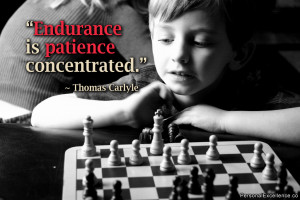 """Inspirational Quote: """"Endurance is patience concentrated ..."""