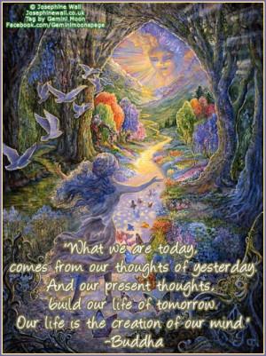 Josephine Wall art Buddha quote.