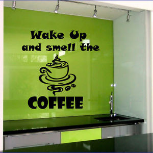 Wall-Decals-Wake-Up-and-Smell-the-Coffee-Quote-Cafe-Decor-Kitchen-Home ...