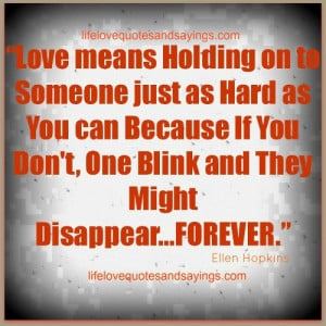 Love Quotes About Holding On