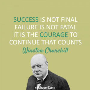 Inspirational Quotes | J. S. Goldstine |Powerful Quotes About Failure Churchill