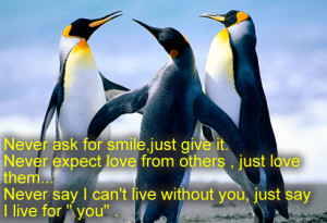 ... give it never expect love from others just love them never say i can t