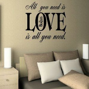 Beatles quote wall sticker