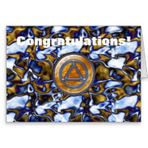 Sober Sobriety Recovery AA Greeting Card