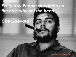... the people liberate themselves every day people straighten up the hair