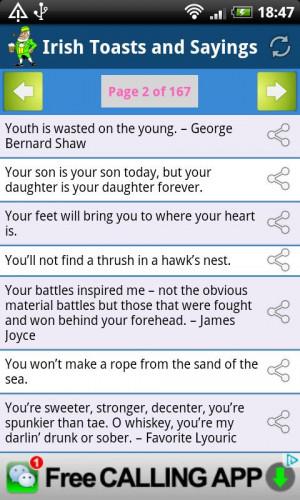 Irish Toasts and Sayings - screenshot