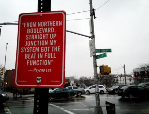 hip-hop walking tour: 'Rap Quotes' street art marks specific city ...