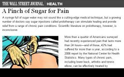 ... Street Journal on prolotherapy for chronic pain quotes Cochrane Review