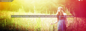 Ask Yourself Why You Care Quote Picture