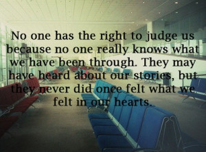 Don't Pass Judgement.....
