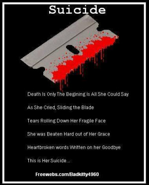 Depressing Quotes About Cutting Poems Images