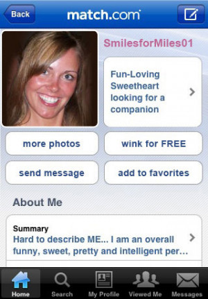 free online dating profile template