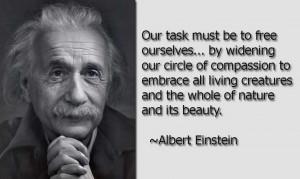 """Albert Einstein said """"Man Was Not Born to be a Carnivore"""""""