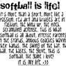 Softball Sayings Facebook Layouts