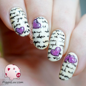 Love letter nail art - HPB Valentine's Day linkup
