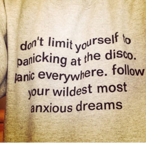 Sweater: quote on it, panic! at the disco, panic at the disco, jumper ...