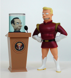 11. Richard Nixon's Head with Zapp Brannigan