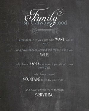 Family Isn't Always Blood 2, Typography, 5x7 Digital File, INSTANT ...