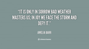 Quotes About Bad Weather