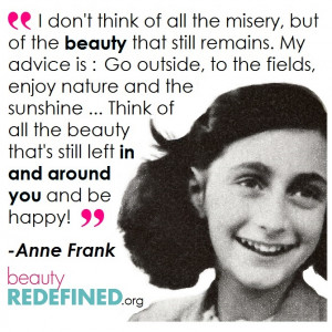 Anne Frank and How to Enjoy Beauty