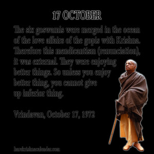 Srila Prabhupada Quotes For Month October 17
