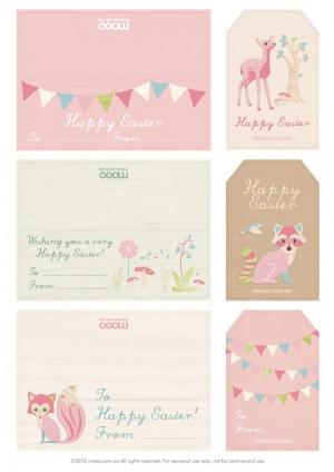 Printable Easter Tags, Free Printable Labels And Tags, Free Easter ...