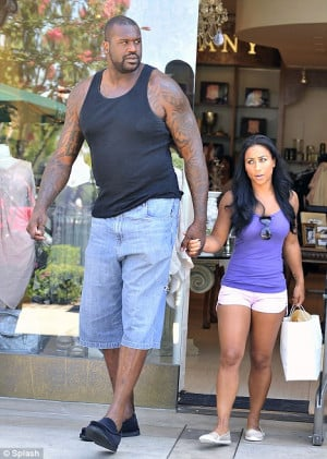 The tall and the short of it: Shaquille O'Neal and Nicole Alexander ...