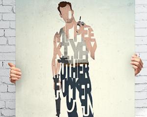 John McClane film quote art print - Yippie Ki Yay' typography movie ...