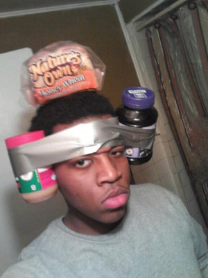Nothing like duct taping a peanut butter and jelly sandwich to your ...
