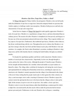 Fatal flaw essay