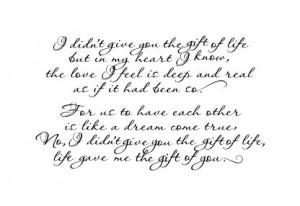 Quote for adoptive parents/children