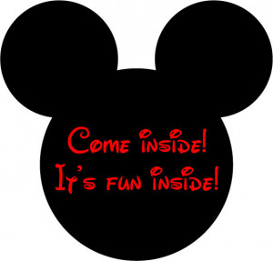 Mickey Mouse head and quote vinyl wall decal