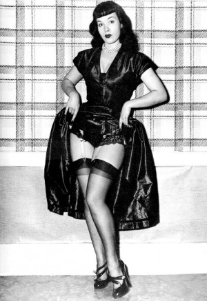 ... want to be the girl next door when you can be Bettie Page anyway