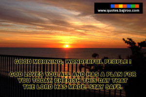 Good morning quotes with sunrise