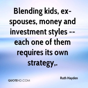 Blending kids, ex-spouses, money and investment styles -- each one of ...