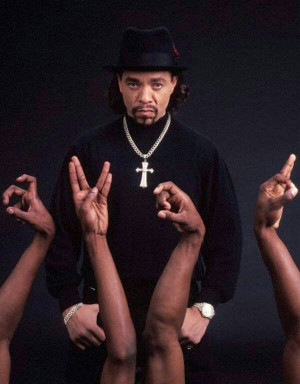 Ice-T (born Tracy Marrow), rapper, actor, & former member of the hip ...