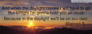 daylight maroon 5 profile facebook covers