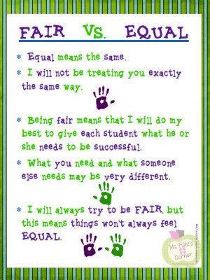 Teacher Quotes From Students Be fair to all students.