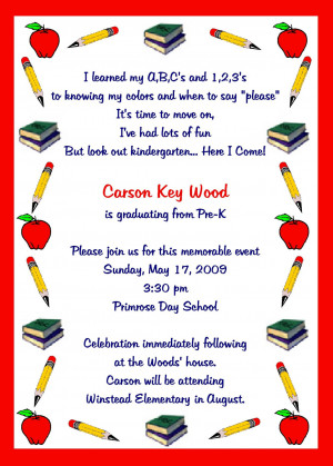 kindergarten graduation invitations template L1O2GIEc